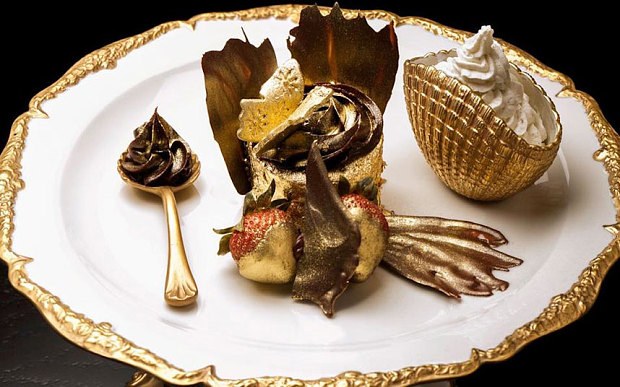 The £648 Golden Phoenix cupcake is made from the finest chocolate and edible gold